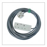 30ft Double Socket AC Power Extension Cable